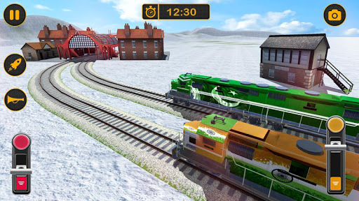 Modern Pak vs Indian Train Race: Azadi Train Game 1.0 screenshots 9