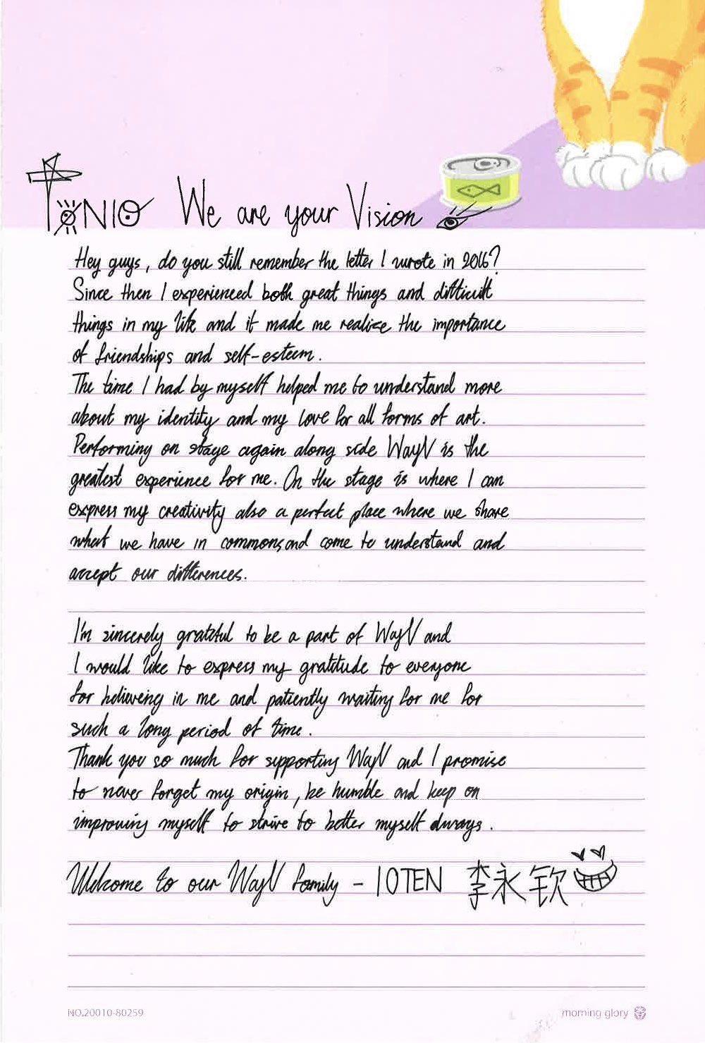 ten handwriting