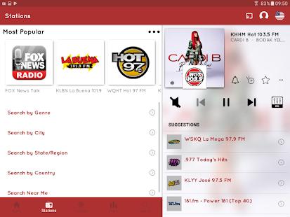 myTuner Radio App: FM Radio + Internet Radio Tuner Screenshot