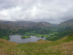 Photo: Elterwater from somewhere on one of Loughrigg's many knobbles.