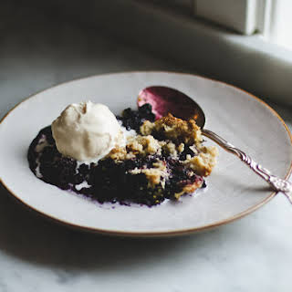 Single Serving Blueberry Crumble.