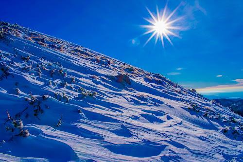 Winter sun by Matija Šimunić - Landscapes Mountains & Hills ( sky, winter, cold, snow, sun )