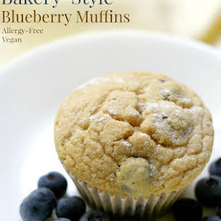 Gluten-Free Bakery-Style Blueberry Muffins (Vegan, Allergy-Free).