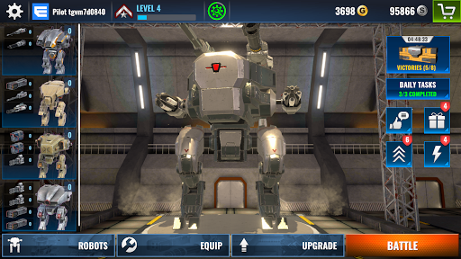 Mech Wars: Multiplayer Robots Battle fond d'écran 2