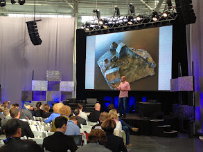 Photo: Chris Anderson presenting at #REAL2015 secondary stage