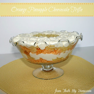 Orange Pineapple Cheesecake Trifle