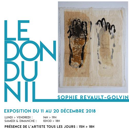 Le Don du Nil - Expo de Sophie Revault pour le Projet de L'Arche d'Aix-en-Provence