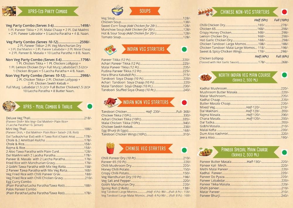 Backstreet Kitchen menu 1