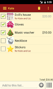 Gift List screenshot 1