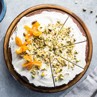 Pistachio Olive Oil Cake with Honeyed Kumquats (Gluten-Free).