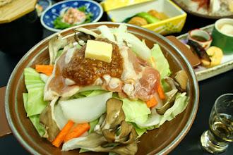 Photo: 台の物:越の鶏甘味噌焼き