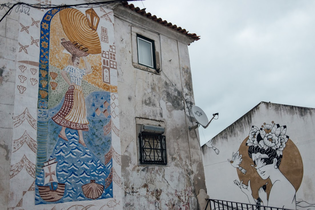 Alfama, Lisszabon, street art