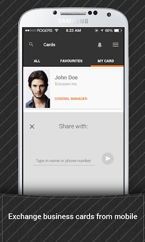 android Bric - Biz Card Manager Screenshot 1