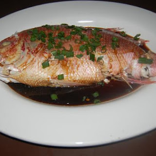 Chinese New Year Steamed Fish.