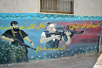 Photo: A mural dedicated to the Palestinian fighters of the second Intifada in Jenin, West Bank.