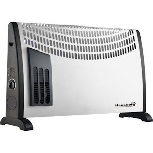 Convector electric Hausberg HB 8191, 2000 W, 3 niveluri, termostat reglabil