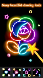 Learn To Draw Glow Flower APK screenshot thumbnail 5