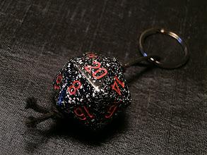 Photo: Giant Black D20 Keychain