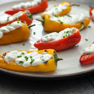 Grilled Sweet Peppers with Goat Cheese.