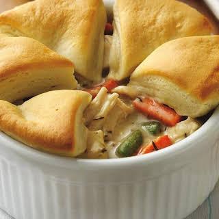 Chicken Pot Pie with Biscuits.