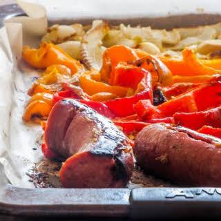 Kielbasa & Peppers Sheet Pan Dinner.