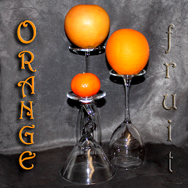 Orange Fruit by Janna Morrison - Typography Words