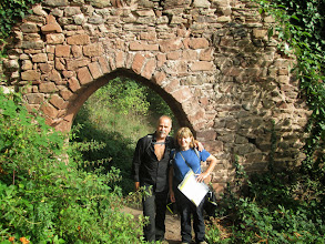 Photo: les guides Doris et Freddy au château de Saint-Ulrich
