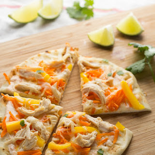 Thai Curry Chicken Naan Pizzas