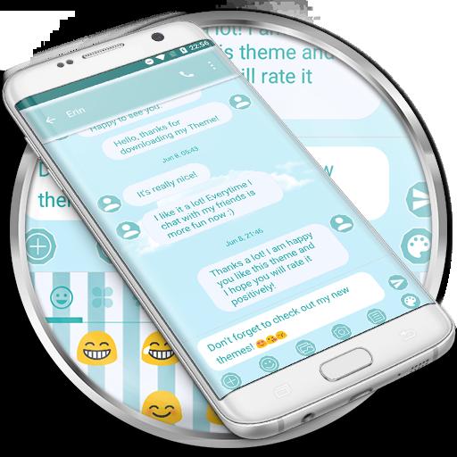 SMS Messages Blue Cloud Theme
