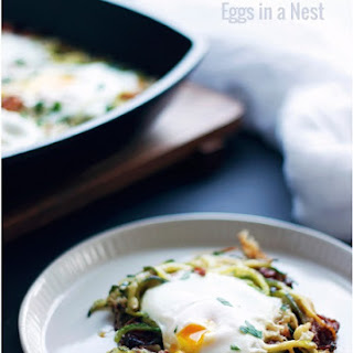 Bacon and Zucchini Eggs in a Nest - Low Carb.