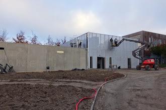 Photo: Vue générale DC avec résille #datacenter #reims (Visite de chantier 06.11.2014)