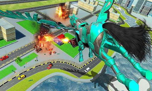 US Police Transform Robot Unicorn Flying Horse 1.0.14 screenshots 4
