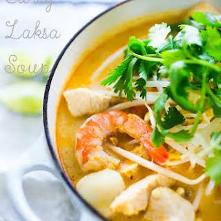 Laksa Soup Recipe – Malaysian Curry Coconut Soup.