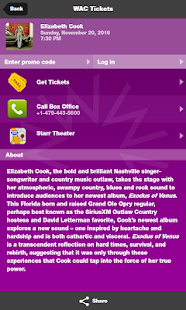 Walton Arts Center Tickets- screenshot thumbnail