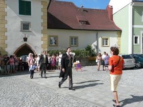 Photo: unknown guests probably Baron Albrecht Schuler von Senden