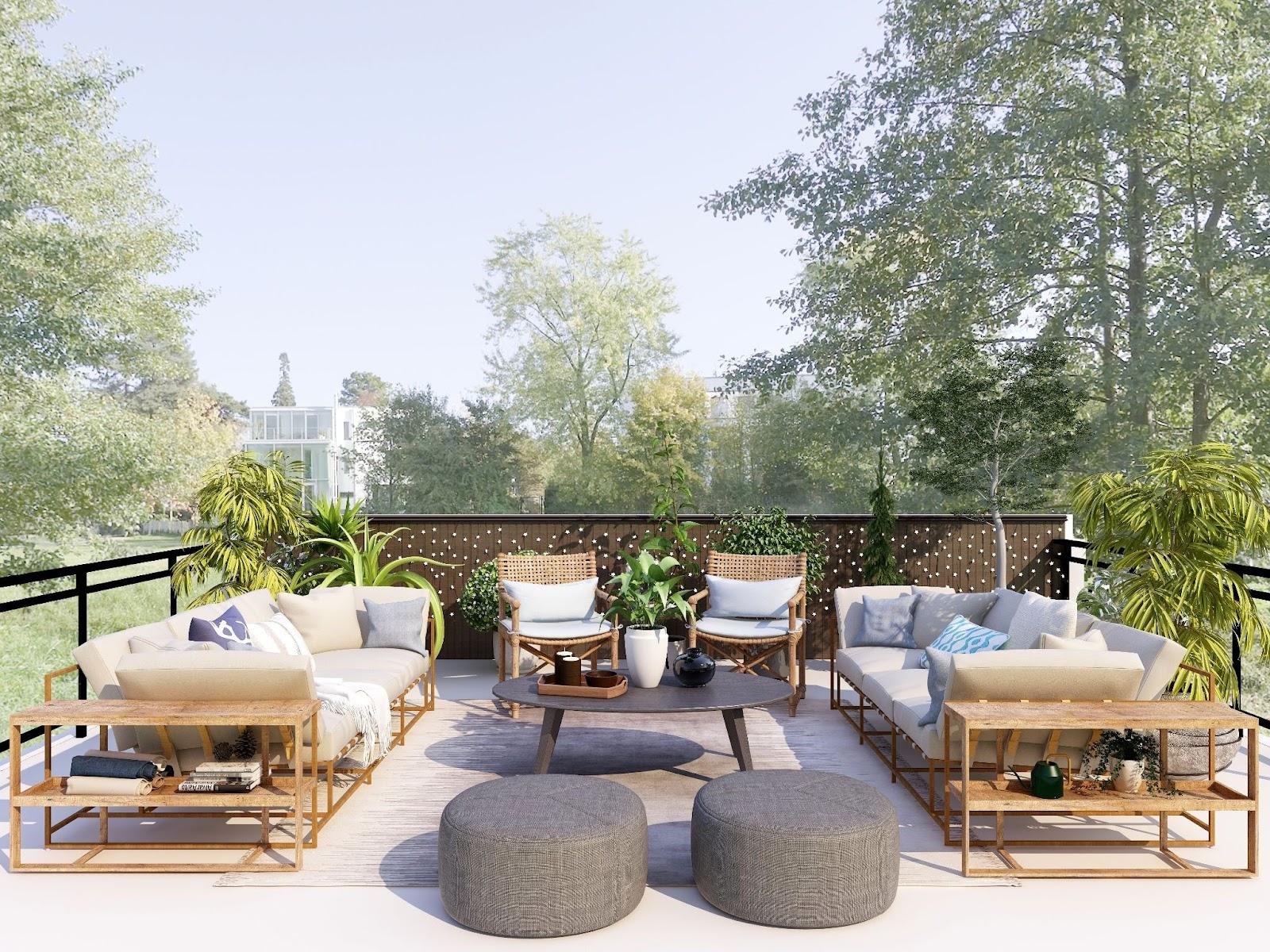 modern tropical set; modern outdoor furniture ideas