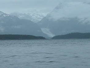 Photo: Davidson Glacier flows out of the Chilkat Mountain Range.