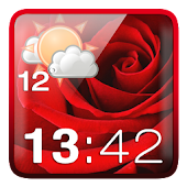 Rose Clock Weather Widget