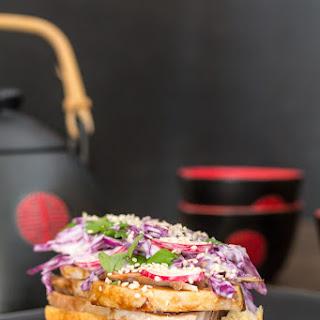 Chinese Red-Cooked Pork Brioche Sandwich
