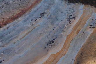 Photo: Interesting blue mineralization along slickrock strata