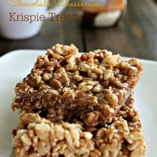 Chocolate Cheesecake Krispie Bars