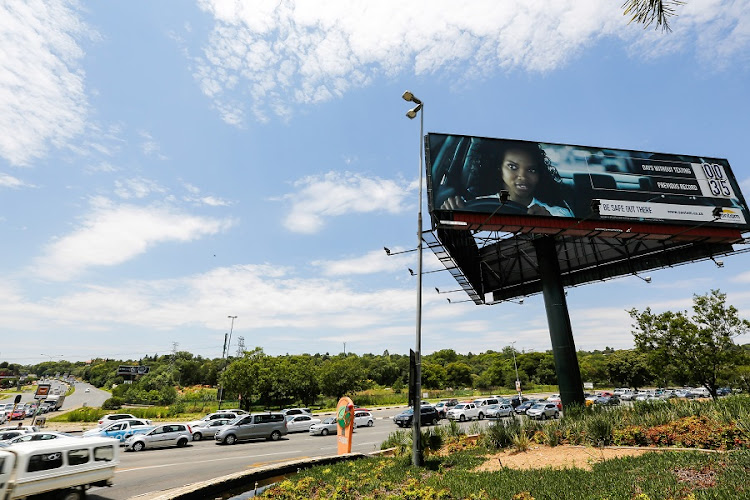 Roadside billboards are used for out-of-home advertising. Technology is now able to measure who is passing these sites. Picture: THE TIMES