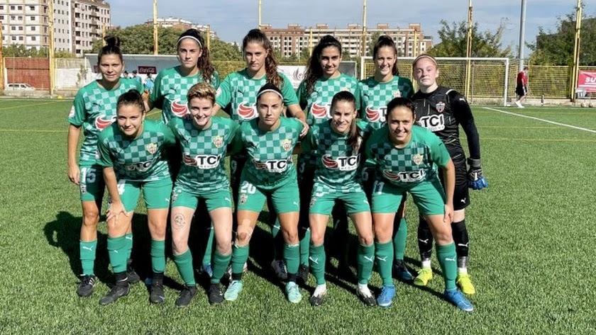 El once del Almería Femenino en su visita al Badajoz este domingo.