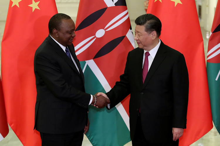 Image result for Uhuru at Second Belt and Road Forum at the Great Hall of the People in Beijing, China.