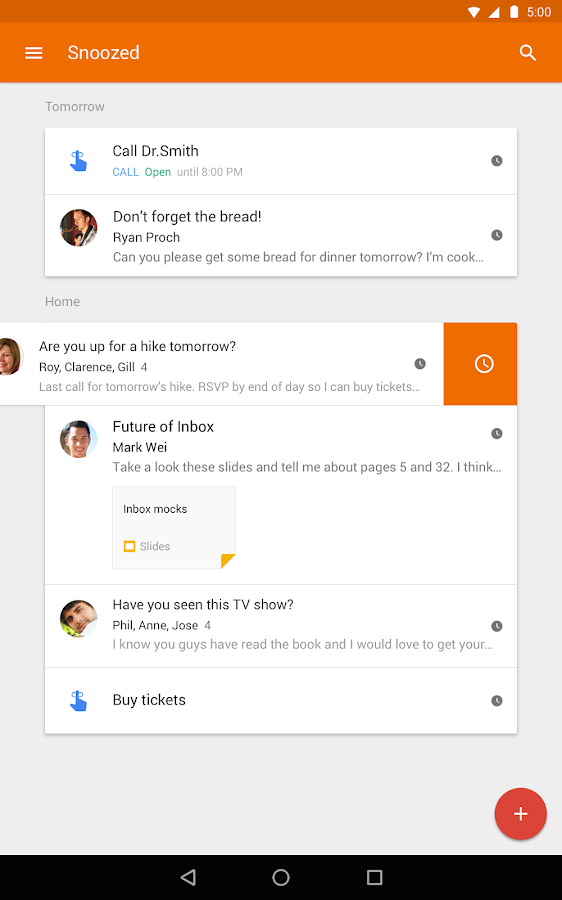 Inbox by Gmail: captura de pantalla