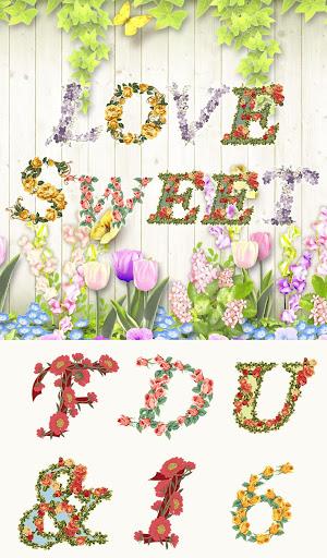 Stamp Pack: Lovely Flower ABCs 1.0 Windows u7528 1