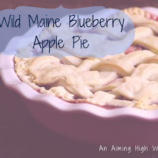 Wild Maine Blueberry Apple Pie