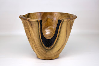 """Photo: Richard Webster 8 1/2"""" x 7"""" natural edge bowl [mulberry]"""