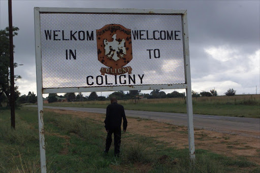 This is the Welcoming sign of Coligny in the North West province.