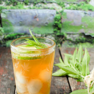 Peach Green Tea infused with Fruit.